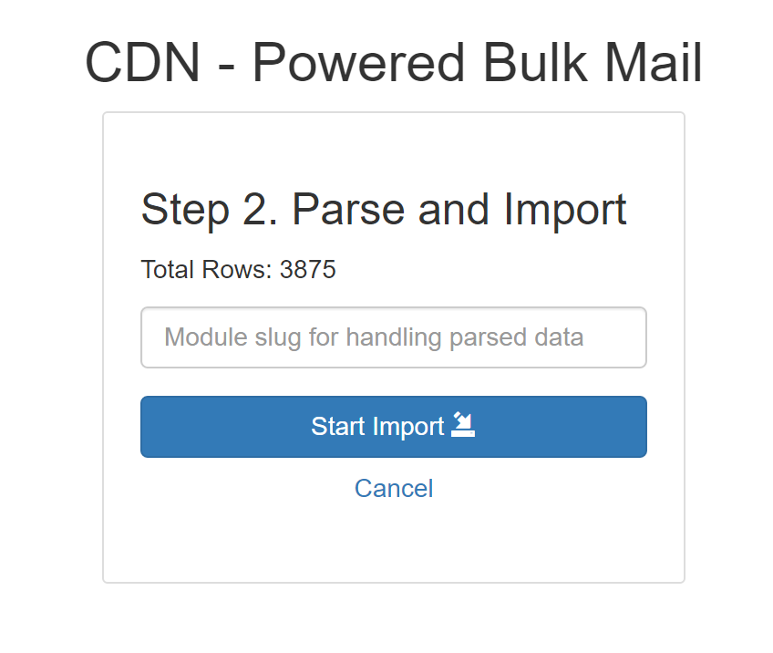 Step 2 - parse and import large csv file